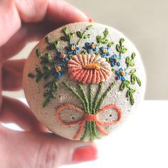 Hand Embroidery for trinket box
