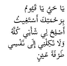 O Ever Living One, O Self- Sustaining One, by Your mercy do I ask for Your support in setting all my affairs right. Do not leave me to my soul for so much as the blink of an eye.