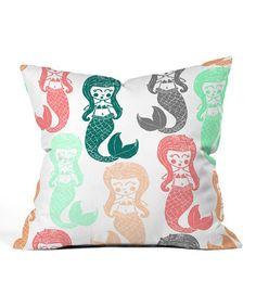 Another great find on #zulily! Dash & Ash Let's Be Mermaids Lightweight Throw Pillow #zulilyfinds