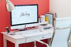 Pretty Home Office Space // Modish and Main