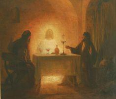 Le souper a Emmaüs;  Eugène GIRARDET;1853 - 1907; collection particulière