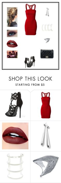 """""""Untitled # 53"""" by binasa87 ❤ liked on Polyvore featuring Giuseppe Zanotti, Oneness, Ippolita, Charlotte Russe, BERRICLE and Chanel"""