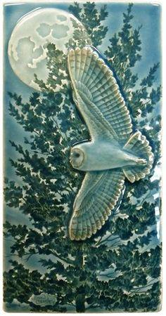 Craftsman Tile, Modern Craftsman, Craftsman Kitchen, Art Nouveau Tiles, Barn Art, Arts And Crafts House, Handmade Tiles, Handmade Art, Owl Art
