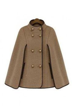 Cape fur coat