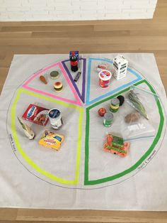 The Food Group Activity for kids!  Use real foods that kids can hold and interact with to teach kids about the different food groups and how much of these different food groups they should consume each meal. Super easy, interactive and most of all, FUN!