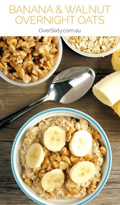 Banana & Walnut Overnight Oats Recipe - if you're looking for a healthy breakfast, try these super easy overnight oats. Just delicious!