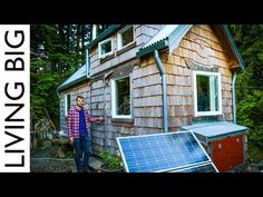 Amazing Builder's Bicycle-Powered Tiny House - YouTube