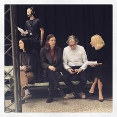 Taken by @lynseyalex. Watching the #AW15-16 rehearsals with Paul Smith. #HAUSOFPAULSMITH