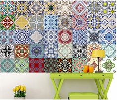 Cheap decorative vinyl, Buy Quality wall decals stickers directly from China home decor Suppliers: Mediterranean style Self Adhesive Tile Art Wall Decal Sticker DIY Kitchen Bathroom Home Decor Vinyl B Diy Sticker, Wall Stickers Uk, Wall Decal Sticker, Bathroom Wall Stickers, Kitchen Wall Stickers, Bathroom Wall Art, Kitchen Wall Quotes, Kitchen Wall Art, Diy Kitchen