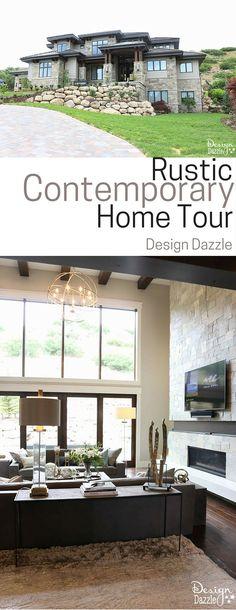 Amazing Rustic Contemporary Home Tour!   Design Dazzle