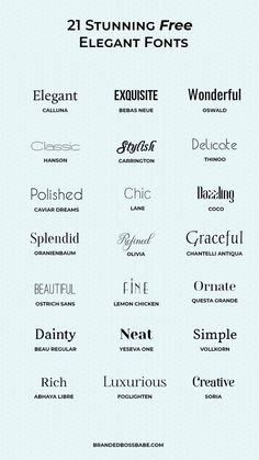 20 beautiful and free elegant fonts - Ana Amelio - Design for Life Portfolio Graphic Design, Graphic Design Fonts, Typography Letters, Typography Logo, Font Logo, Hand Lettering, Graphisches Design, Logo Design, Vector Design