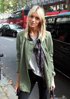 green coat print scarf <3
