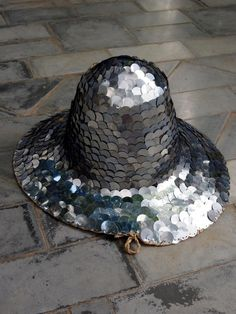 Sequin covered chapeau -- yes
