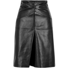 Isabel Marant Gladys Black Leather Skirt - Size 8