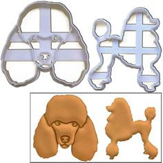 Set of 2 Poodle cookie cutters (Poodle's Face and Silhoue...