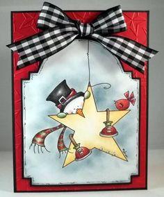 hanging star snowman