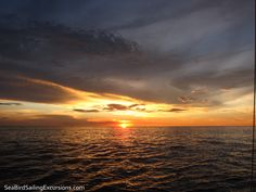 #PuraVida #CostaRica #Sunset from aboard the luxurious 45' sailing boat, Sea Bird Sailing Excursions in the Gulf of Papagayo, Costa Rica. <3