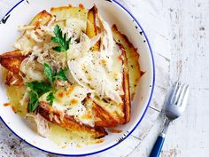 Deliciously easy potato wedges and chicken poutine - the perfect French inspired dinner for tonight! Simple and quick yet packed with bags of fresh wholesome flavour!