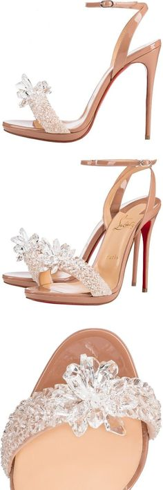 Christian Louboutin OFF! Brilliant Luxury by Emmy DE ♦ Christian Louboutin Crystal Queen Pretty Shoes, Beautiful Shoes, Cute Shoes, Me Too Shoes, Louboutin High Heels, Zapatos Shoes, Christian Louboutin Outlet, Dream Shoes, Stilettos