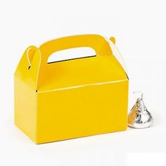 "Yellow Mini Treat Boxes 3"" x  1.75"" x 2.625""   6ct - $1.29"