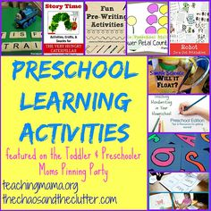Preschool Learning Activities as featured on the Toddler & Preschooler Pinning Party