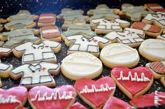 cute medical themed cookies