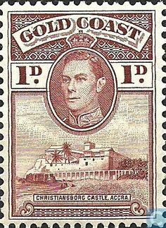 Stamps - Gold Coast - Castle of Christiansborg 1938