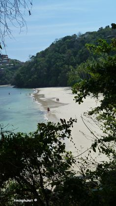 The view of the beach at Cape Panwa Hotel from the trees