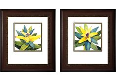 Shop for a Tropical Bloom Set of 2 Artwork at Rooms To Go. Find Wall Decor that will look great in your home and complement the rest of your furniture. #iSofa #roomstogo