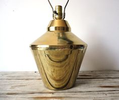 Glam Modern Large Bronze Table Lamp