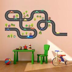 Adesivo de parede infantil - Mini Cidade