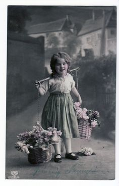 vintage+-+child+and+flowers+by+Meltys-stock.deviantart.com+on+@DeviantArt
