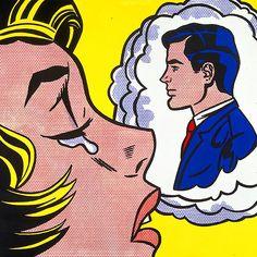 Brohen Hearted - Roy Lichtenstein Pop Art
