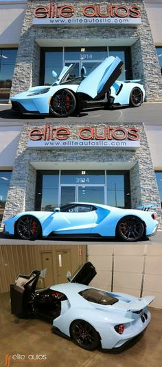 2018 Ford GT Supercar, Special Order GULF BLUE Ford Gt Gulf, Supercars For Sale, Car Covers, Brake Calipers, Carbon Fiber, Color Change, Super Cars, Bmw