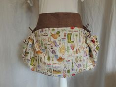 Harvesting apron with cute garden print fabric and speckled brown background by NWCreativeKeepsakes on Etsy Gardening Apron, Half Apron, Beautiful One, Aprons, Thoughtful Gifts, Printing On Fabric, Harvest, Purpose, Best Gifts