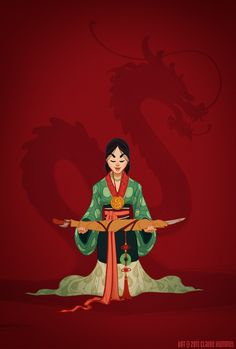 Historical Mulan: Artist Claire Hummel dressed her Disney princesses in historically accurate costumes. Illustration by Claire Hummel Disney Amor, Walt Disney, Disney Love, Disney Magic, Disney Girls, Disney E Dreamworks, Disney Pixar, Disney Characters, Disney Icons