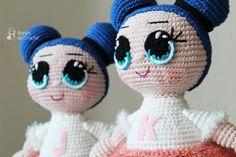 Boneca Lol da Bonek de Crochê – Passo a Passo grátis – Bonek de Crochê Lol Dolls, Hello Kitty, Diy And Crafts, Crochet Hats, Teddy Bear, Christmas Ornaments, Toys, Holiday Decor, Animals