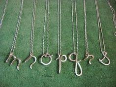 Artículos similares a Custom Initial Pendant in sterling silver en Etsy Wire Pendant, Initial Pendant, Name Jewelry, Diy Jewelry, Jewelry Ideas, Jewelery, Silver Jewelry, Girls Necklaces, Initial Necklaces