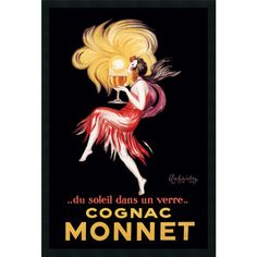 @Overstock - Artist: Leonetto Cappiello Title: Cognac Monnet (ca. 1927)Product type: Textured framed arthttp://www.overstock.com/Home-Garden/Leonetto-Cappiello-Cognac-Monnet-ca.-1927-Textured-Framed-Art/4427570/product.html?CID=214117 $54.99