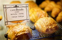 Customers line up around the block at Café Besalu, owned by James and Kaire Miller, but the croissan... - Daniel Sheehan