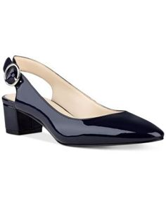 zapatillas Nine West Brigitte Block-Heel Pumps - Blue Nine West Brigitte Block-Heel Pumps - Blue Kitten Heel Shoes, Low Heel Shoes, Pump Shoes, Low Heels, Shoes Heels, Pretty Shoes, Beautiful Shoes, Office Shoes For Women, Sock Shoes