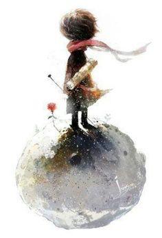Le Petit Prince face à sa rose, par Duygu Atlas