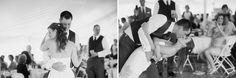 bride and groom first dance wedding on lake st germain wi