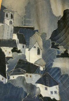 Jean Crafts, Denim Crafts, Recycled Denim, Recycled Fabric, Denim Art, Mode Jeans, Fabric Art, Fabric Crafts, Denim Ideas