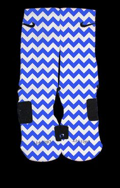 Bedazzling Blue Chevron custom Nike Elite Socks by TheSickestSocks, $35.99