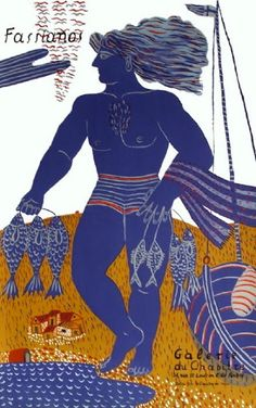 Painter, poet, and set designer, Alecos Fassianos draws inspiration from stories and mythology of his native Greece. Greek Fish, Modern Art, Contemporary Art, Greek Paintings, Greek Art, Fish Art, Graphic Design Art, Photo Illustration, Artist Art