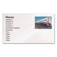 "Amtrak Budd Company Metroliner car 1968 Pack Of Standard Business Cards; $33.90 -  #stanrail -  Business, 3.5"" x 2.0"", 100 pack: Stand out from the crowd with custom business cards. Upload your own logo, photo, or graphic, or use a pre-existing template. Zazzle business cards are professionally printed for all of your networking needs. Customize each side of your business card and choose from hundreds of font styles for free!  @stanrails_store"