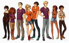 Nico, Hazel, Frank, Annabeth, Percy, Jason, Piper, Leo