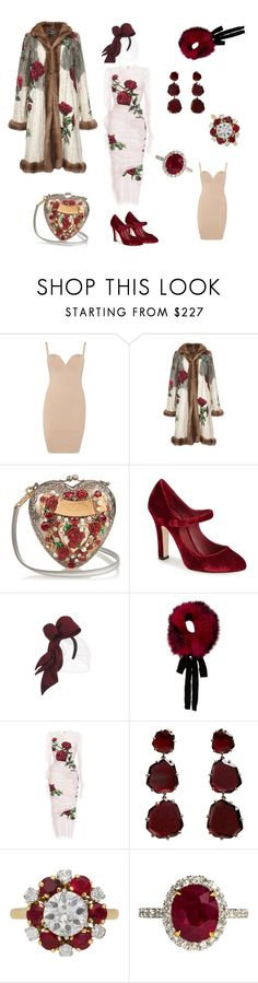 """Moscow Fashion Week. Friday night fashion party.  March."" by desinedbyk ❤ liked on Polyvore featuring Wolford, Dolce&Gabbana, J. Mendel, Annoushka and Mellerio"