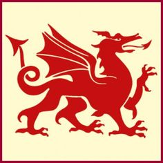 Our Welsh Dragon Stencil features a fierce dragon, claws extended, prepared for battle. A depiction of the traditional Welsh Dragon, symbolizing all things Welsh, our dragon can be seen on the national flag of Wales. Dragon Tattoo Stencil, Dragon Tattoo Drawing, Red Dragon Tattoo, Tattoo Stencils, Large Wall Stencil, Large Stencils, Welsh Symbols, Welsh Tattoo, Wales Dragon